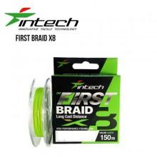 Plecionka Intech - First Braid X8 1.0PE 17lb/7.26kg 150m Green